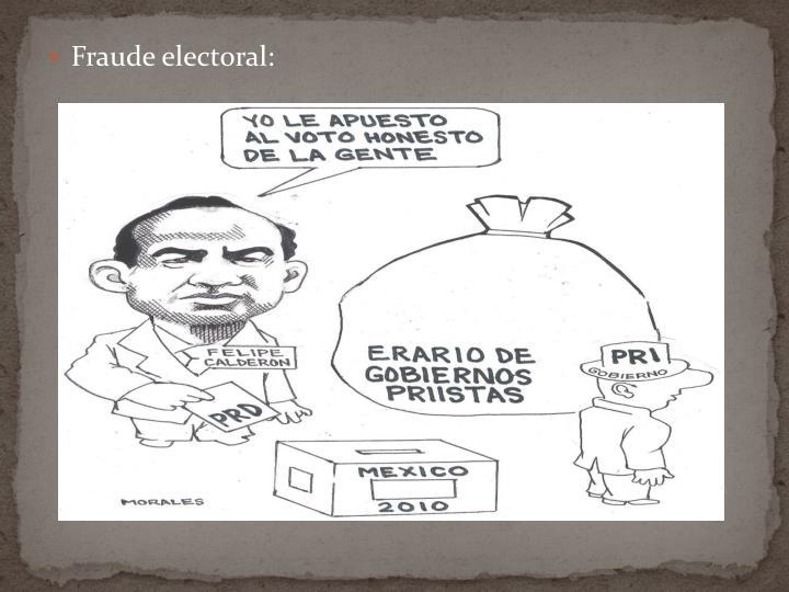 Fraude electoral: