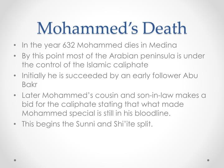 Mohammed's Death