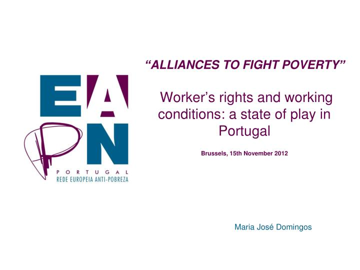 """ALLIANCES TO FIGHT POVERTY"""