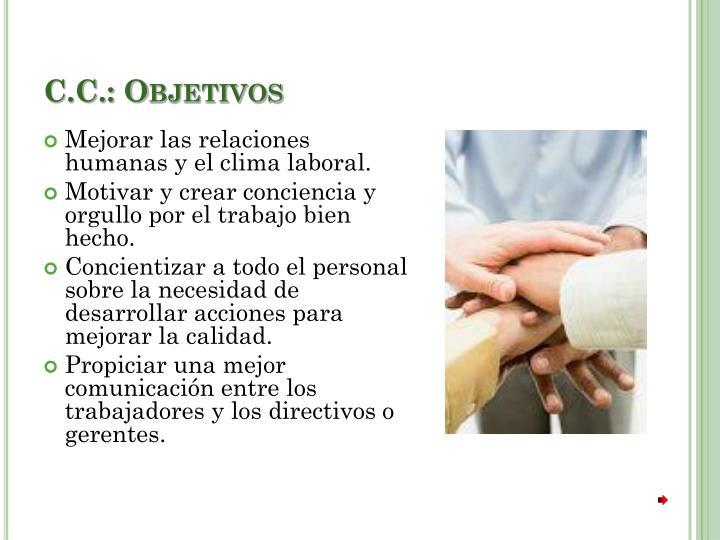 C.C.: Objetivos