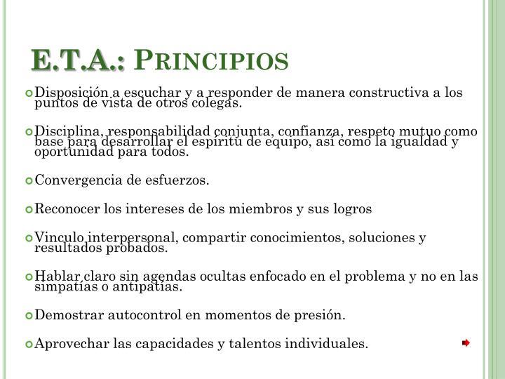 E.T.A.: