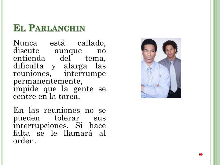 El Parlanchin