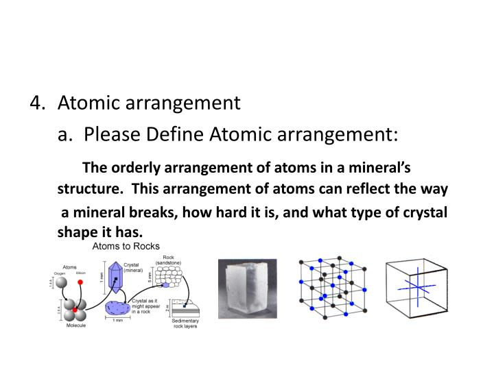 Atomic arrangement