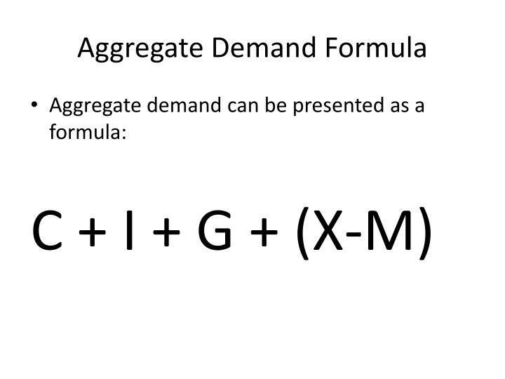 Aggregate Demand Formula