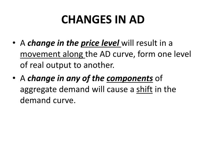 CHANGES IN AD