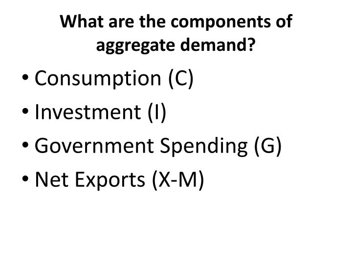 What are the components of aggregate demand?