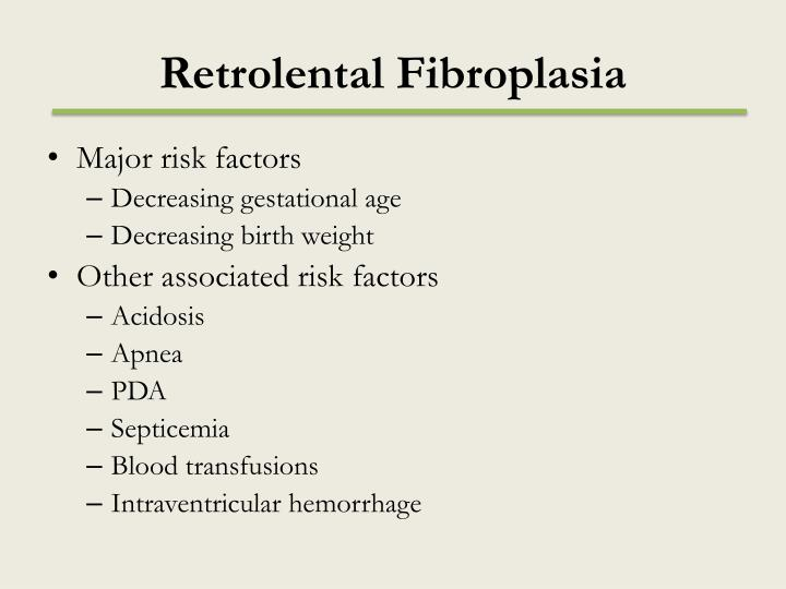R etrolental fibroplasia1
