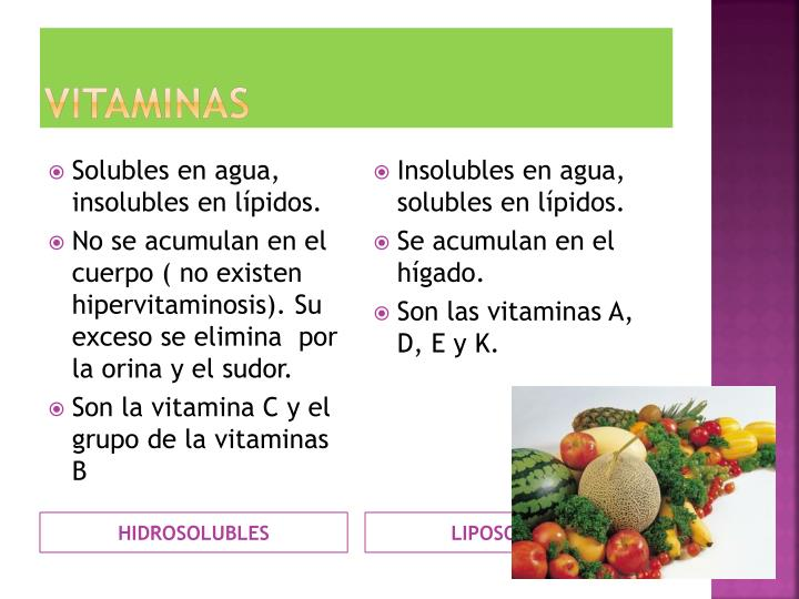 LIPOSOLUBLES
