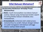 sifat batuan metamorf1