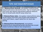 tipe metamorphisme