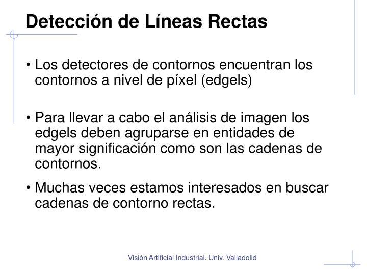 Detección de Líneas Rectas