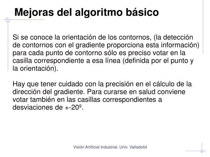 Mejoras del algoritmo básico