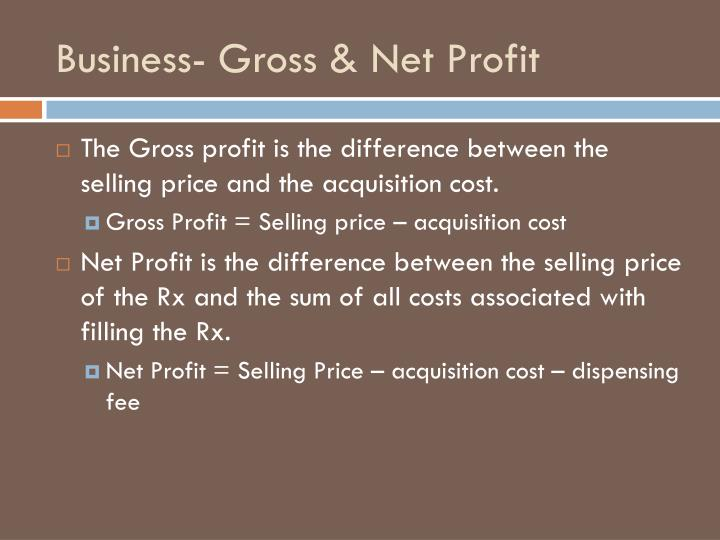 Business- Gross & Net Profit