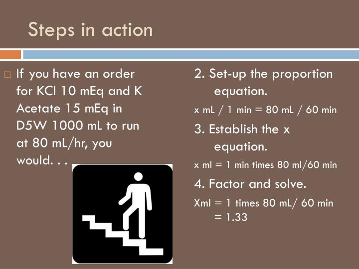 Steps in action
