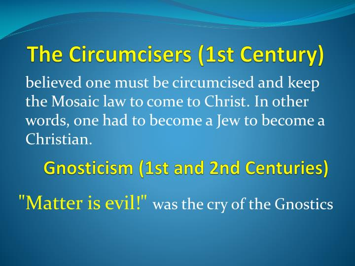The Circumcisers (1st Century)
