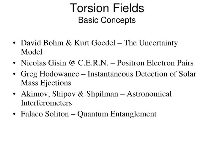 Torsion Fields