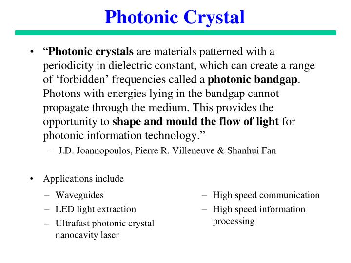 Photonic Crystal