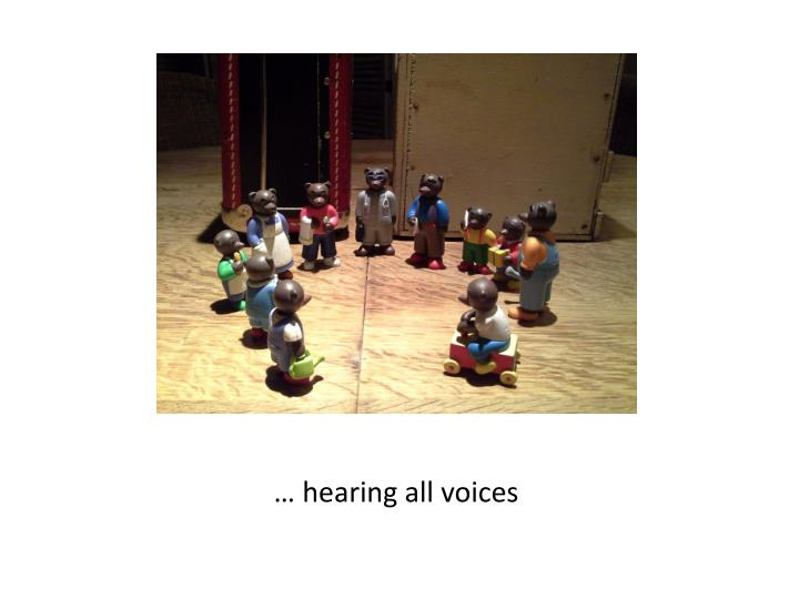 … hearing all