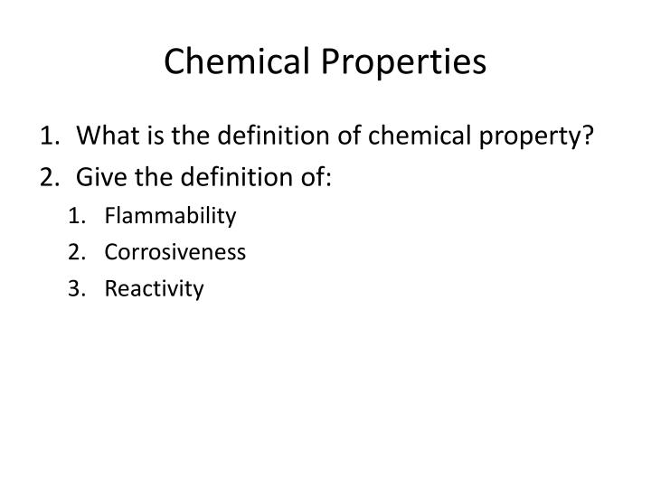 Chemical Properties