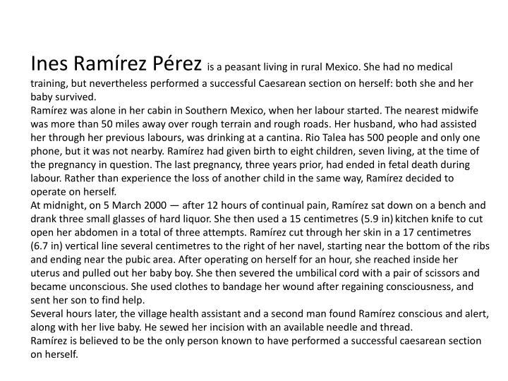 Ines Ramírez Pérez