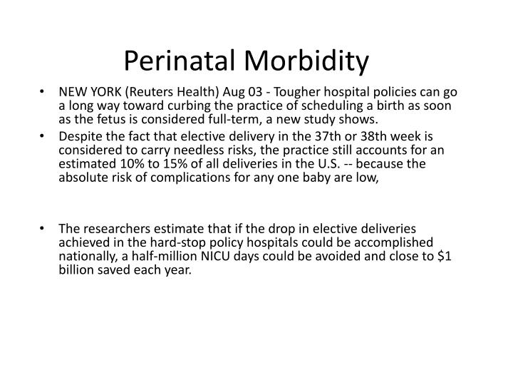 Perinatal Morbidity