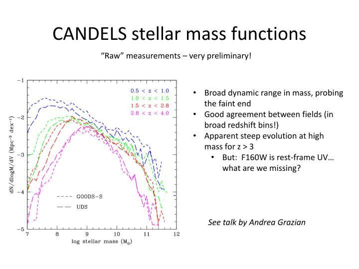 CANDELS stellar mass functions