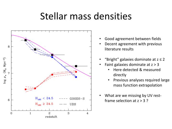 Stellar mass densities