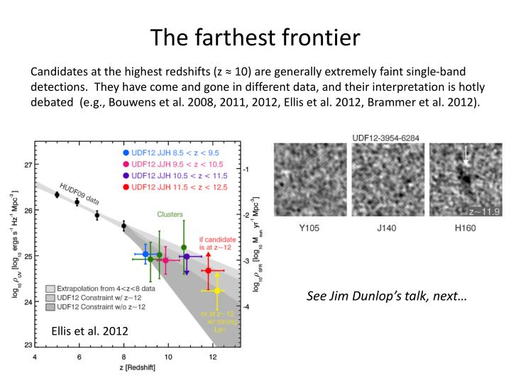 The farthest frontier