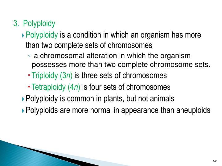 3.  Polyploidy