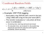 condtional random fields