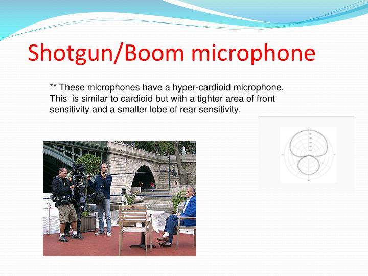 Shotgun/Boom microphone