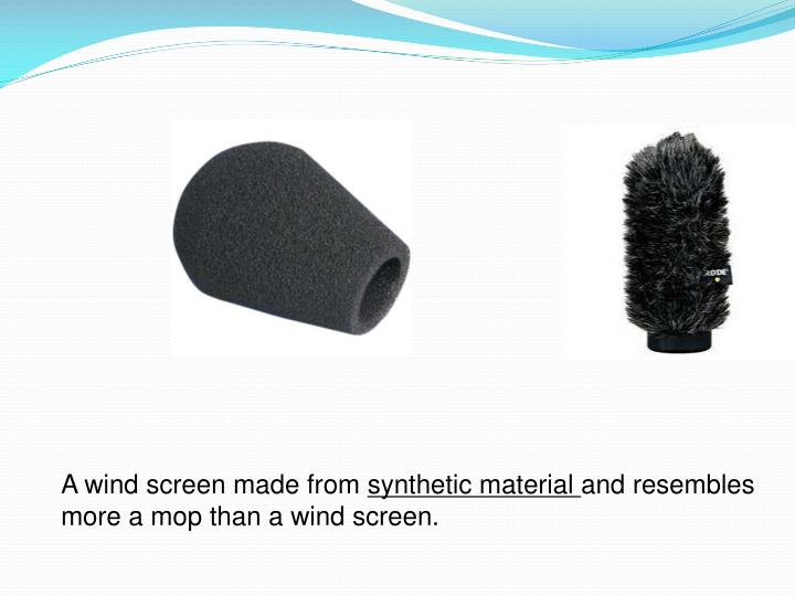 A wind screen made from