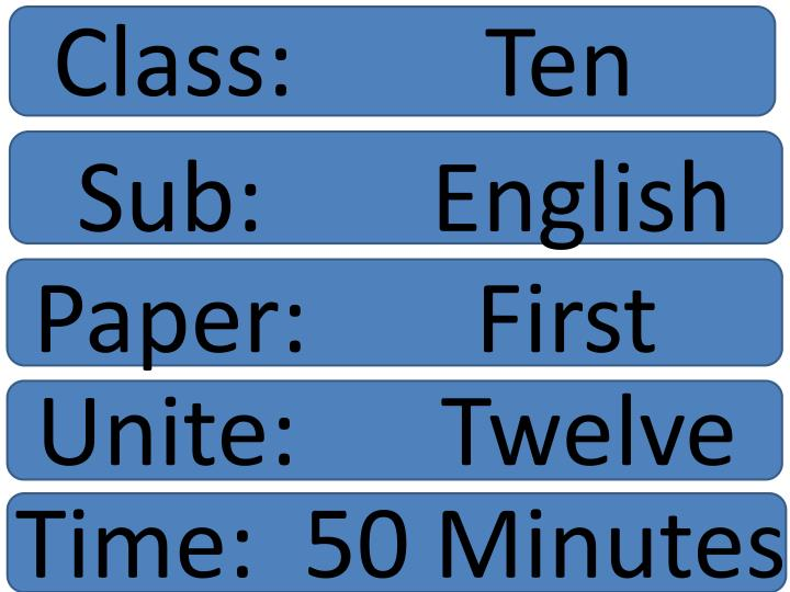 Class:        Ten