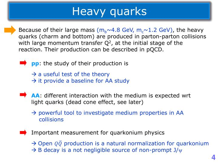 Heavy quarks