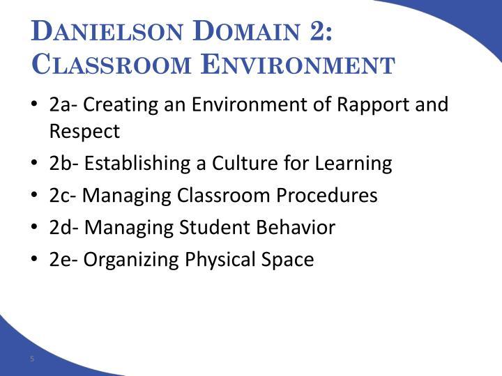 Danielson Domain 2: