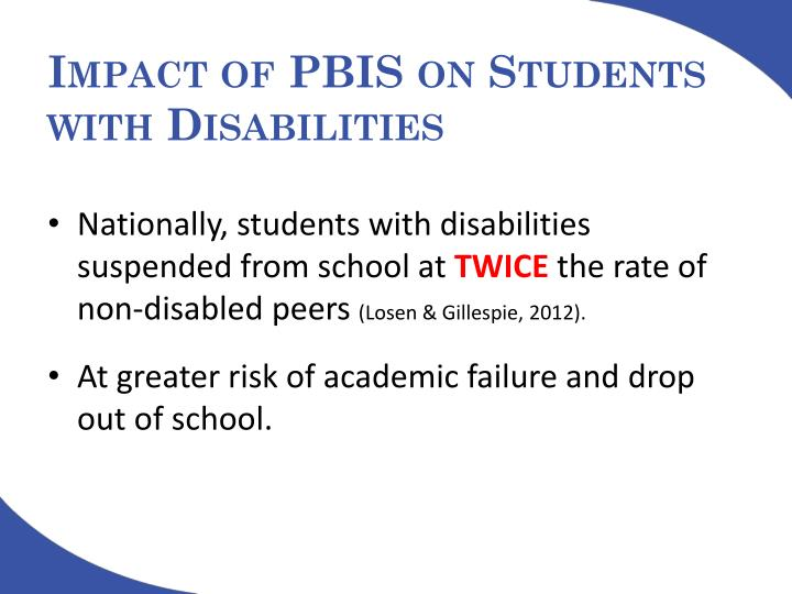 Impact of PBIS on Students with Disabilities