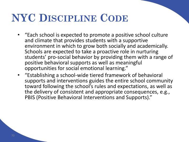 NYC Discipline Code