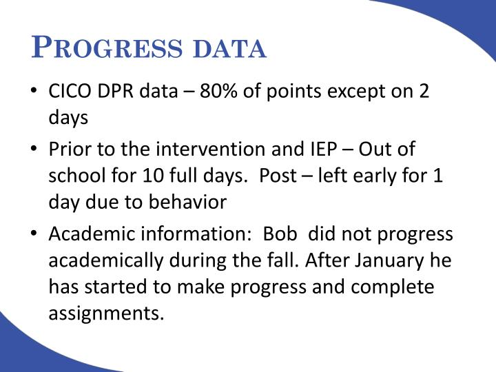 Progress data