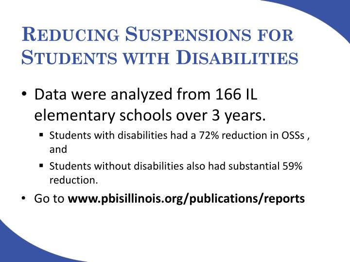 Reducing Suspensions for Students with Disabilities