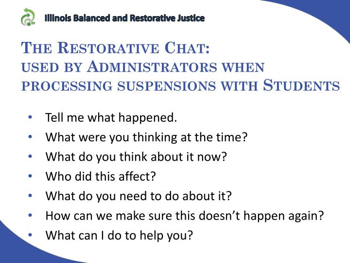Illinois Balanced and Restorative Justice