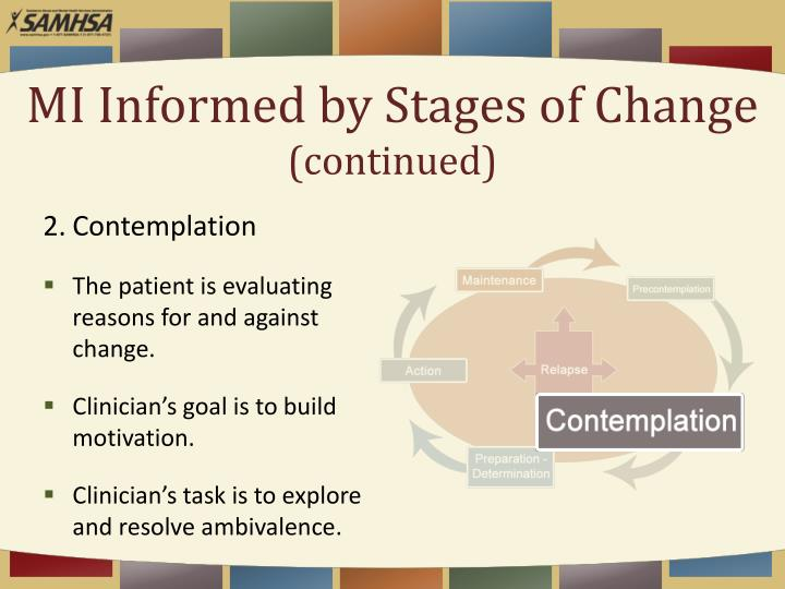 MI Informed by Stages of Change
