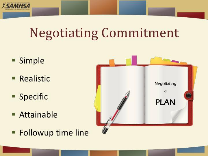 Negotiating Commitment