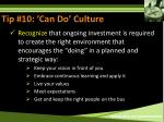 tip 10 can do culture