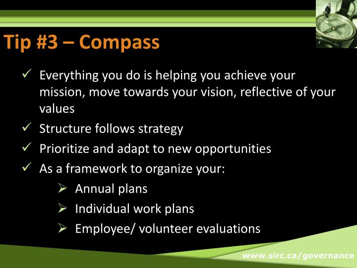 Tip #3 – Compass