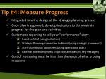 tip 4 measure progress