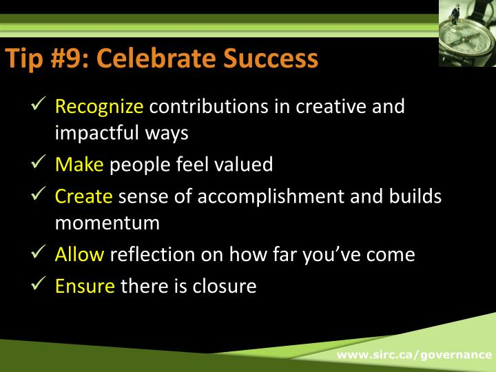 Tip #9: Celebrate Success