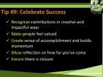 tip 9 celebrate success