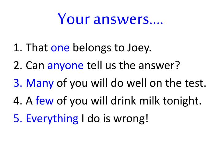 Your answers….