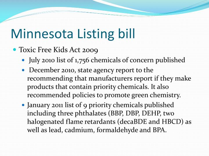 Minnesota Listing bill