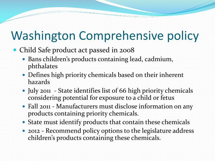 Washington Comprehensive policy